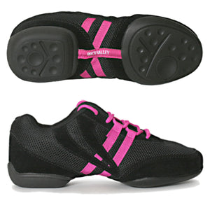 ROCH VALLEY DT99 SPLIT SOLE JAZZ SNEAKERS Dance Shoes Roch Valley Pink Junior 13