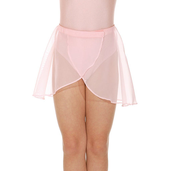 "ROCH VALLEY GSKIRT - PETITE LENGTH GEORGETTE WRAPOVER PETAL SKIRT Dancewear Roch Valley Pale Pink 18"" waist"