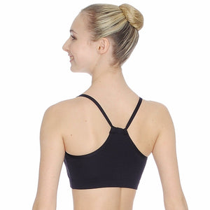 ROCH VALLEY HARMONY MICROFIBRE STRAPPY CROP TOP Dancewear Roch Valley Black 1 (Age 5-6)