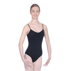 ROCH VALLEY MARGOT MICROFIBRE CAMISOLE LEOTARD WITH A PLEATED FRONT Dancewear Roch Valley Black 2 (Age 9-10)
