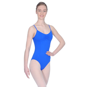 ROCH VALLEY MARGOT MICROFIBRE CAMISOLE LEOTARD WITH A PLEATED FRONT Dancewear Roch Valley Royal 2 (Age 9-10)