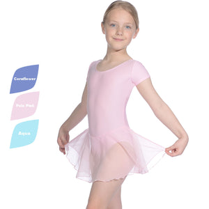ROCH VALLEY MATT LYCRA SKIRTED LEOTARD WITH ATTACHED SKIRT RV2383 Dancewear Roch Valley