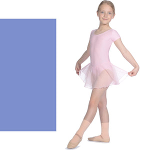 ROCH VALLEY MATT LYCRA SKIRTED LEOTARD WITH ATTACHED SKIRT RV2383 Dancewear Roch Valley Cornflower 0 (Age 3-4)
