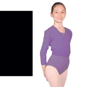 ROCH VALLEY NIKKI COTTON LYCRA CROSSOVER TIE WRAP CARDIGAN Dancewear Roch Valley Black 3A (Age 11-13)