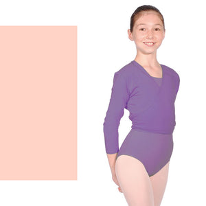ROCH VALLEY NIKKI COTTON LYCRA CROSSOVER TIE WRAP CARDIGAN Dancewear Roch Valley Pink 2 (Age 9-10)