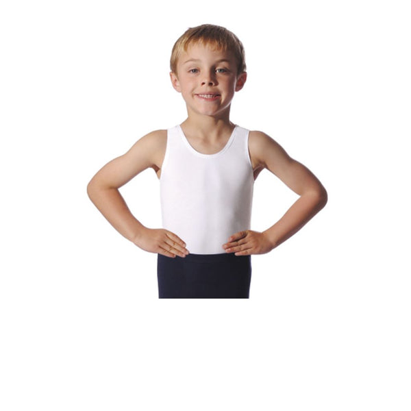ROCH VALLEY OLIVER SLEEVELESS BOYS & MENS LEOTARD Dancewear Roch Valley Black 0 (Age 3-4)