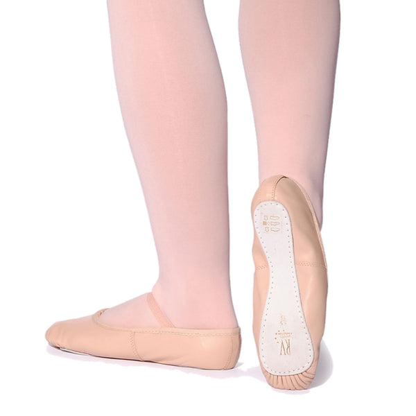 ROCH VALLEY PINK LEATHER OPHELIA BALLET SHOES - PRE SEWN ELASTIC Dance Shoes Roch Valley
