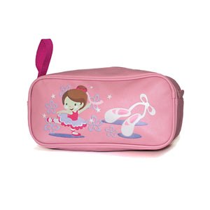 ROCH VALLEY PINK PVC SHOE BAG WITH LITTLE BALLERINA DESIGN Bags & Holdalls Roch Valley