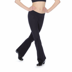 ROCH VALLEY RHYTHM MICROFIBRE JAZZ PANTS WITH KICK FLARE Dancewear Roch Valley Black 1 (Age 5-6)