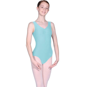 ROCH VALLEY RV2382 ISTD STYLE FRONT LINED LEOTARD FOR GRADES 2-4 Dancewear Roch Valley Aqua 1 (Age 5-6)