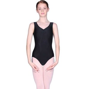 ROCH VALLEY RV2382 ISTD STYLE FRONT LINED LEOTARD FOR GRADES 2-4 Dancewear Roch Valley Black 1 (Age 5-6)