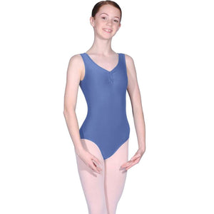 ROCH VALLEY RV2382 ISTD STYLE FRONT LINED LEOTARD FOR GRADES 2-4 Dancewear Roch Valley Cornflower 1 (Age 5-6)