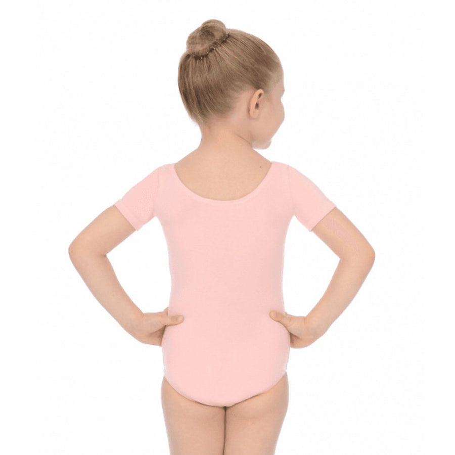ROCH VALLEY SHORT SLEEVE COTTON PRE-PRIMARY LEOTARD Dancewear Roch Valley Pale Pink 0 (Age 3-4)