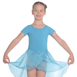 ROCH VALLEY SHORT SLEEVE COTTON PRE-PRIMARY LEOTARD Dancewear Roch Valley Aqua 0 (Age 3-4)