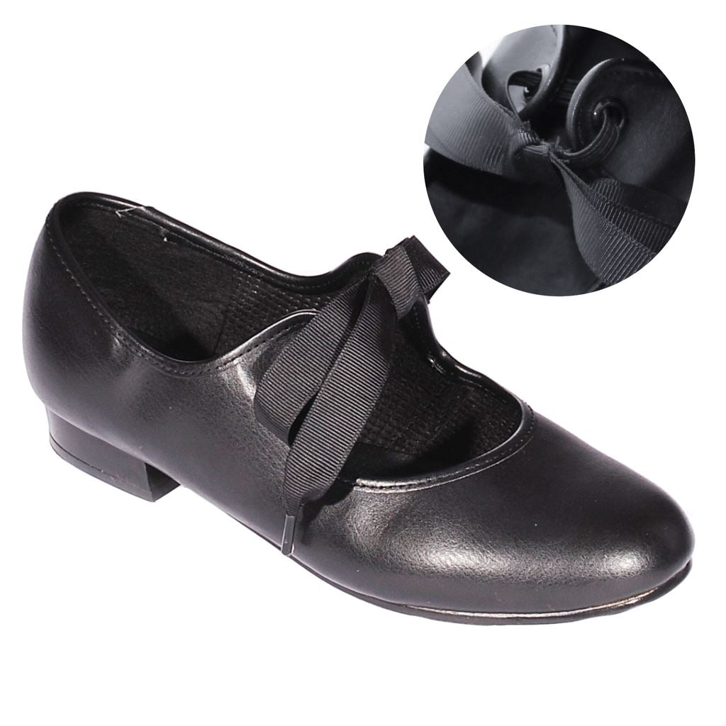 watch lowest price the cheapest ROCH VALLEY SLIP ON PRE-TIED TAP DANCE SHOE - Click Dancewear