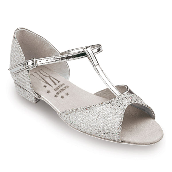 ROCH VALLEY STACEY/S SILVER HOLOGRAM LOW HEEL BALLROOM SHOE Ballroom Shoes Roch Valley