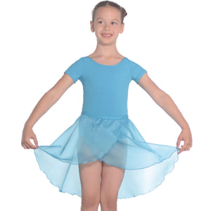 "ROCH VALLEY TULIP REGULATION GEORGETTE WRAPOVER SKIRT Dancewear Roch Valley Aqua Blue 18"" waist"