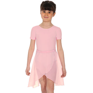 "ROCH VALLEY TULIP REGULATION GEORGETTE WRAPOVER SKIRT Dancewear Roch Valley Pink 18"" waist"