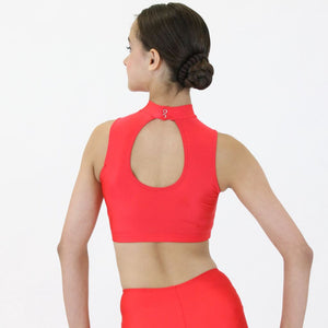 ROSIE - SLEEVELESS POLO NECK CROP TOP Dancewear Dancers World