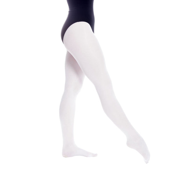 RUMPF 108 BASIC BALLET TIGHTS Tights & Socks Rumpf White Age 4-6