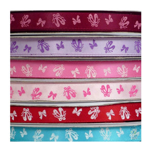 SATIN BALLET SHOE PRINT RIBBON Accessories Dancers World