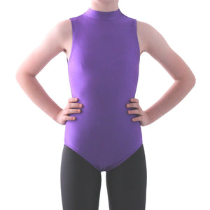 SHARON - SLEEVELESS POLO NECK LEOTARD - BOLD COLOURS Dancewear Dancers World