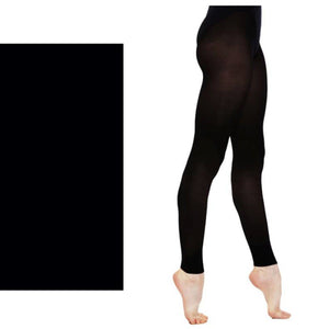 'SILKY' BRAND 60 DENIER BALLET DANCE FOOTLESS TIGHTS Tights & Socks Silky Black Age 3-5