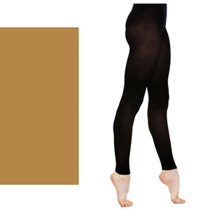 'SILKY' BRAND 60 DENIER BALLET DANCE FOOTLESS TIGHTS Tights & Socks Silky Tan Age 3-5