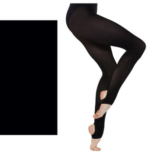'SILKY' BRAND 60 DENIER BALLET DANCE STIRRUP TIGHTS Tights & Socks Silky Black Age 7-9