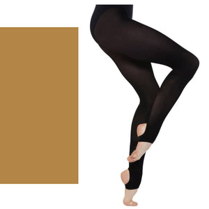 'SILKY' BRAND 60 DENIER BALLET DANCE STIRRUP TIGHTS Tights & Socks Silky Tan Age 7-9