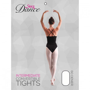 'SILKY' BRAND 60 DENIER CONVERTIBLE BALLET DANCE TIGHTS Tights & Socks Silky