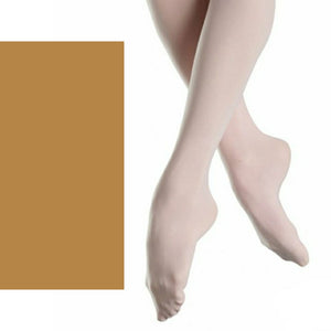 'SILKY' BRAND 60 DENIER FOOTED BALLET DANCE TIGHTS Tights & Socks Silky Tan Age 3-5