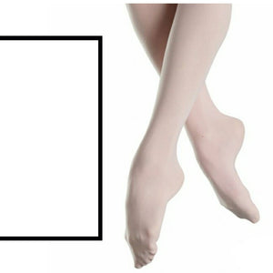 'SILKY' BRAND 60 DENIER FOOTED BALLET DANCE TIGHTS Tights & Socks Silky White Age 3-5