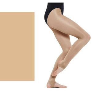 'SILKY' BRAND SHIMMER DANCE TIGHTS WITH STIRRUP Tights & Socks Silky Light Toast Age 5-7