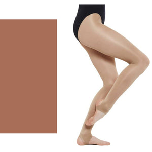 'SILKY' BRAND SHIMMER DANCE TIGHTS WITH STIRRUP Tights & Socks Silky Toast Age 5-7