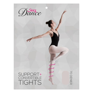 'SILKY' BRAND SUPPORT+ 70 DENIER THEATRICAL PINK CONVERTIBLE BALLET DANCE TIGHTS Tights & Socks Silky