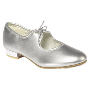 SILVER PU LOW HEEL TAP SHOES Dance Shoes Dancers World