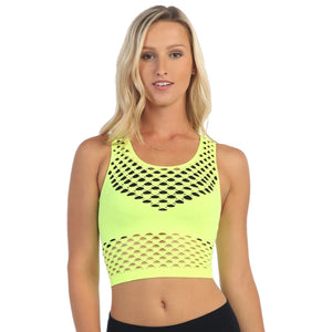 SLEEVELESS BRA COVERED CROP TANK TOP Dancewear Kurve