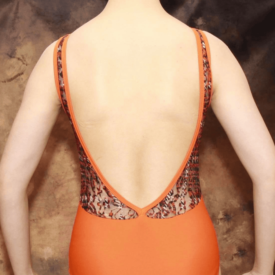 SPICE - BOAT NECK LEOTARD WITH LACE LOW V BACK Dancewear Click Dancewear
