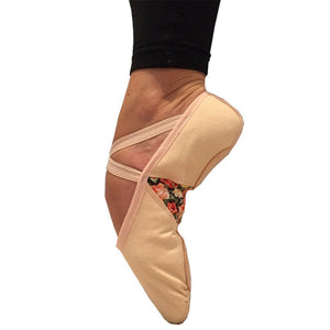 TAGLIA BASILICA 'HELEN OF TROY' BALLET SHOES PINK & BLACK Dance Shoes Taglia Basilica