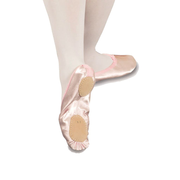 TAPPERS AND POINTERS SPLIT SOLE PINK SATIN BALLET SHOES Dance Shoes Tappers and Pointers Size 1