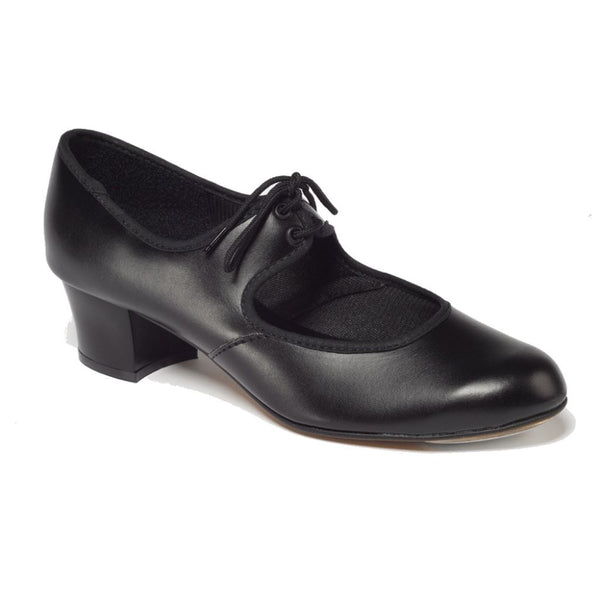 TAPPERS & POINTERS BLACK PTC/P CUBAN HEEL PU TAP SHOES Dance Shoes Tappers and Pointers Black Junior 11