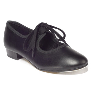 TAPPERS & POINTERS BLACK PU LOW HEEL TAP DANCE SHOES Dance Shoes Tappers and Pointers