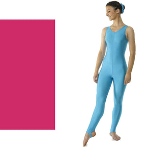 TAPPERS & POINTERS CAT 1 SLEEVELESS CATSUIT Dancewear Tappers and Pointers Cerise 0 (Age 4-5)