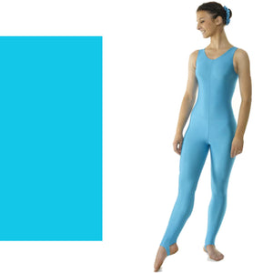 TAPPERS & POINTERS CAT 1 SLEEVELESS CATSUIT Dancewear Tappers and Pointers Kingfisher 0 (Age 4-5)