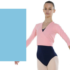 TAPPERS & POINTERS COTTON LYCRA BALLET WRAP Knitwear Tappers and Pointers Aqua 00 (Age 2-3)