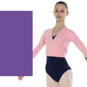TAPPERS & POINTERS COTTON LYCRA BALLET WRAP Knitwear Tappers and Pointers ISTD Purple 00 (Age 2-3)