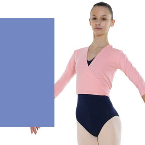 TAPPERS & POINTERS COTTON LYCRA BALLET WRAP Knitwear Tappers and Pointers ISTD Sky Blue 00 (Age 2-3)