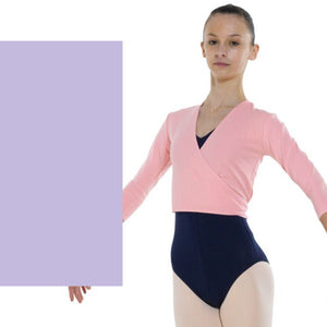 TAPPERS & POINTERS COTTON LYCRA BALLET WRAP Knitwear Tappers and Pointers Lilac 00 (Age 2-3)