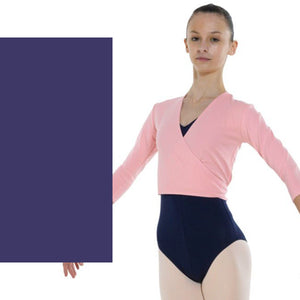 TAPPERS & POINTERS COTTON LYCRA BALLET WRAP Knitwear Tappers and Pointers Navy Blue 00 (Age 2-3)